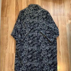 Black tweed shell